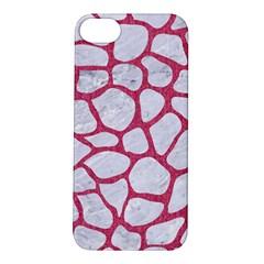 Skin1 White Marble & Pink Denim Apple Iphone 5s/ Se Hardshell Case