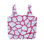 SKIN1 WHITE MARBLE & PINK DENIM Full Print Recycle Bags (M)  Front