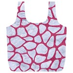 SKIN1 WHITE MARBLE & PINK DENIM Full Print Recycle Bags (L)  Front