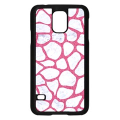 Skin1 White Marble & Pink Denim Samsung Galaxy S5 Case (black)