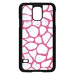 SKIN1 WHITE MARBLE & PINK DENIM Samsung Galaxy S5 Case (Black) Front