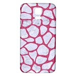 SKIN1 WHITE MARBLE & PINK DENIM Samsung Galaxy S5 Back Case (White) Front