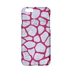 Skin1 White Marble & Pink Denim Apple Iphone 6/6s Hardshell Case