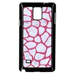 SKIN1 WHITE MARBLE & PINK DENIM Samsung Galaxy Note 4 Case (Black) Front