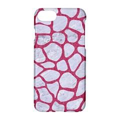 Skin1 White Marble & Pink Denim Apple Iphone 7 Hardshell Case
