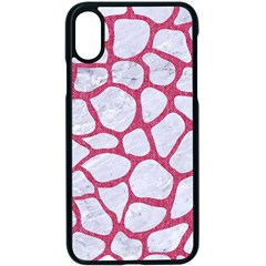 Skin1 White Marble & Pink Denim Apple Iphone X Seamless Case (black)