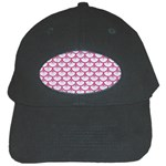 SCALES3 WHITE MARBLE & PINK DENIM (R) Black Cap Front