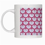 SCALES3 WHITE MARBLE & PINK DENIM (R) White Mugs Left