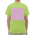 SCALES3 WHITE MARBLE & PINK DENIM (R) Green T-Shirt Back