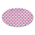 SCALES3 WHITE MARBLE & PINK DENIM (R) Oval Magnet Front