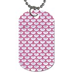 SCALES3 WHITE MARBLE & PINK DENIM (R) Dog Tag (Two Sides) Front