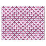 SCALES3 WHITE MARBLE & PINK DENIM (R) Rectangular Jigsaw Puzzl Front
