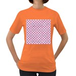 SCALES3 WHITE MARBLE & PINK DENIM (R) Women s Dark T-Shirt Front