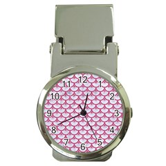 Scales3 White Marble & Pink Denim (r) Money Clip Watches