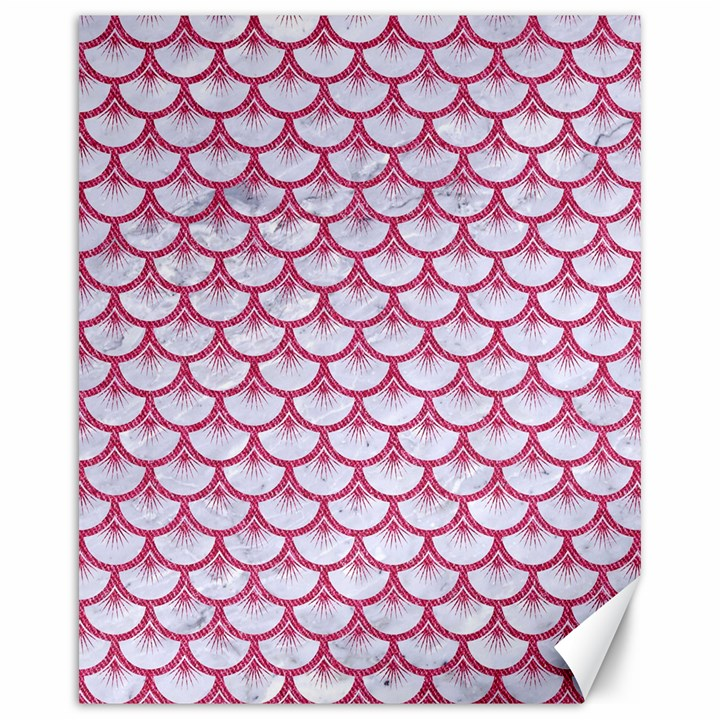 SCALES3 WHITE MARBLE & PINK DENIM (R) Canvas 16  x 20