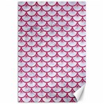 SCALES3 WHITE MARBLE & PINK DENIM (R) Canvas 24  x 36  36 x24 Canvas - 1