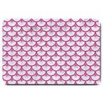 SCALES3 WHITE MARBLE & PINK DENIM (R) Large Doormat  30 x20 Door Mat - 1