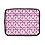 SCALES3 WHITE MARBLE & PINK DENIM (R) Netbook Case (Small)  Front