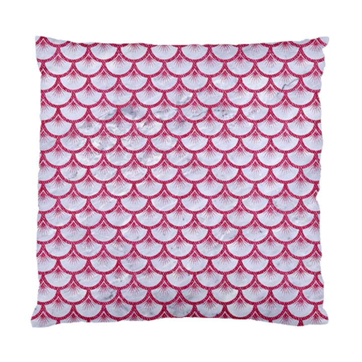SCALES3 WHITE MARBLE & PINK DENIM (R) Standard Cushion Case (One Side)