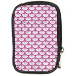 SCALES3 WHITE MARBLE & PINK DENIM (R) Compact Camera Cases Front