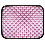 SCALES3 WHITE MARBLE & PINK DENIM (R) Netbook Case (XL)  Front