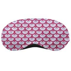 Scales3 White Marble & Pink Denim (r) Sleeping Masks by trendistuff