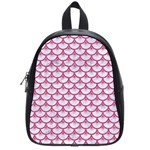 SCALES3 WHITE MARBLE & PINK DENIM (R) School Bag (Small) Front