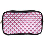 SCALES3 WHITE MARBLE & PINK DENIM (R) Toiletries Bags 2-Side Back
