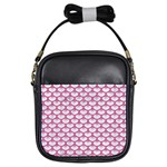 SCALES3 WHITE MARBLE & PINK DENIM (R) Girls Sling Bags Front
