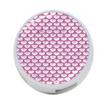 SCALES3 WHITE MARBLE & PINK DENIM (R) 4-Port USB Hub (Two Sides)  Front