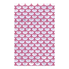 Scales3 White Marble & Pink Denim (r) Shower Curtain 48  X 72  (small)