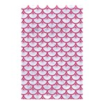 SCALES3 WHITE MARBLE & PINK DENIM (R) Shower Curtain 48  x 72  (Small)  42.18 x64.8 Curtain