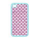 SCALES3 WHITE MARBLE & PINK DENIM (R) Apple iPhone 4 Case (Color) Front