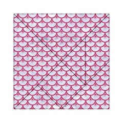 Scales3 White Marble & Pink Denim (r) Acrylic Tangram Puzzle (6  X 6 )