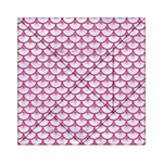 SCALES3 WHITE MARBLE & PINK DENIM (R) Acrylic Tangram Puzzle (6  x 6 ) Front