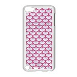 SCALES3 WHITE MARBLE & PINK DENIM (R) Apple iPod Touch 5 Case (White) Front