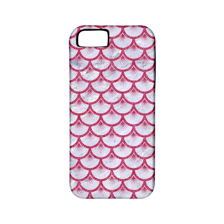 SCALES3 WHITE MARBLE & PINK DENIM (R) Apple iPhone 5 Classic Hardshell Case (PC+Silicone)