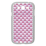 SCALES3 WHITE MARBLE & PINK DENIM (R) Samsung Galaxy Grand DUOS I9082 Case (White) Front
