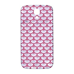 Scales3 White Marble & Pink Denim (r) Samsung Galaxy S4 I9500/i9505  Hardshell Back Case