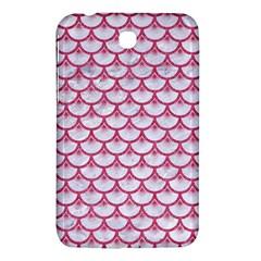 Scales3 White Marble & Pink Denim (r) Samsung Galaxy Tab 3 (7 ) P3200 Hardshell Case