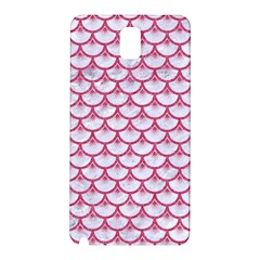 Scales3 White Marble & Pink Denim (r) Samsung Galaxy Note 3 N9005 Hardshell Back Case