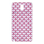 SCALES3 WHITE MARBLE & PINK DENIM (R) Samsung Galaxy Note 3 N9005 Hardshell Back Case Front