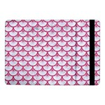 SCALES3 WHITE MARBLE & PINK DENIM (R) Samsung Galaxy Tab Pro 10.1  Flip Case Front