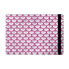 Scales3 White Marble & Pink Denim (r) Ipad Mini 2 Flip Cases