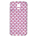 SCALES3 WHITE MARBLE & PINK DENIM (R) Samsung Galaxy S5 Back Case (White) Front
