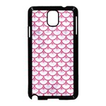 SCALES3 WHITE MARBLE & PINK DENIM (R) Samsung Galaxy Note 3 Neo Hardshell Case (Black) Front