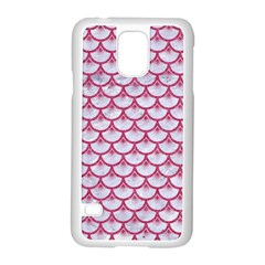 Scales3 White Marble & Pink Denim (r) Samsung Galaxy S5 Case (white)
