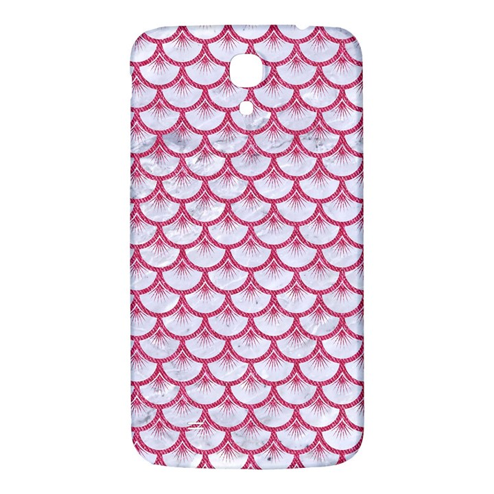 SCALES3 WHITE MARBLE & PINK DENIM (R) Samsung Galaxy Mega I9200 Hardshell Back Case