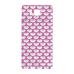Scales3 White Marble & Pink Denim (r) Samsung Galaxy Alpha Hardshell Back Case