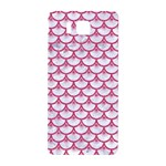 SCALES3 WHITE MARBLE & PINK DENIM (R) Samsung Galaxy Alpha Hardshell Back Case Front